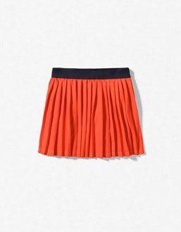 accordian pleat skirt