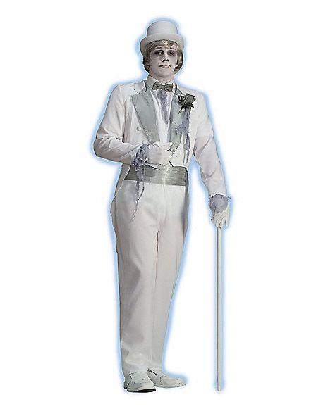 Victorian Ghost Groom Adult Mens Costume - Spirithalloween - halloween ghost costume ideas