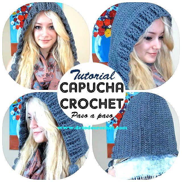 Todo crochet | Como tejer, Capucha y Gorros
