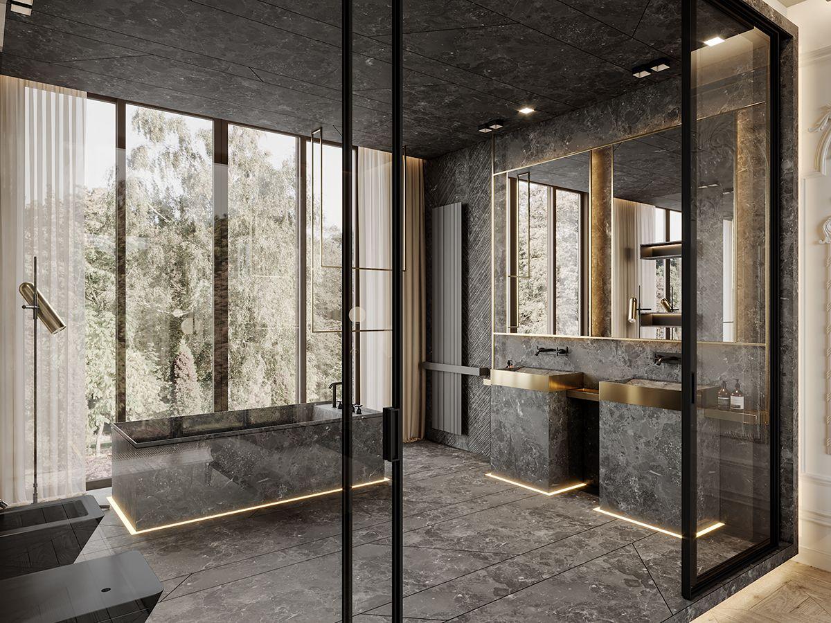 De de marsala apartment on behance bagno nel bagno