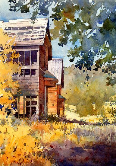 Richard Sneary Work Zoom Castletown Watercolor Architecture Landscape Paintings Watercolor Landscape