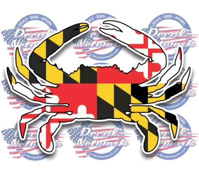 Maryland blue crab decal vinyl sticker decalnetwork com
