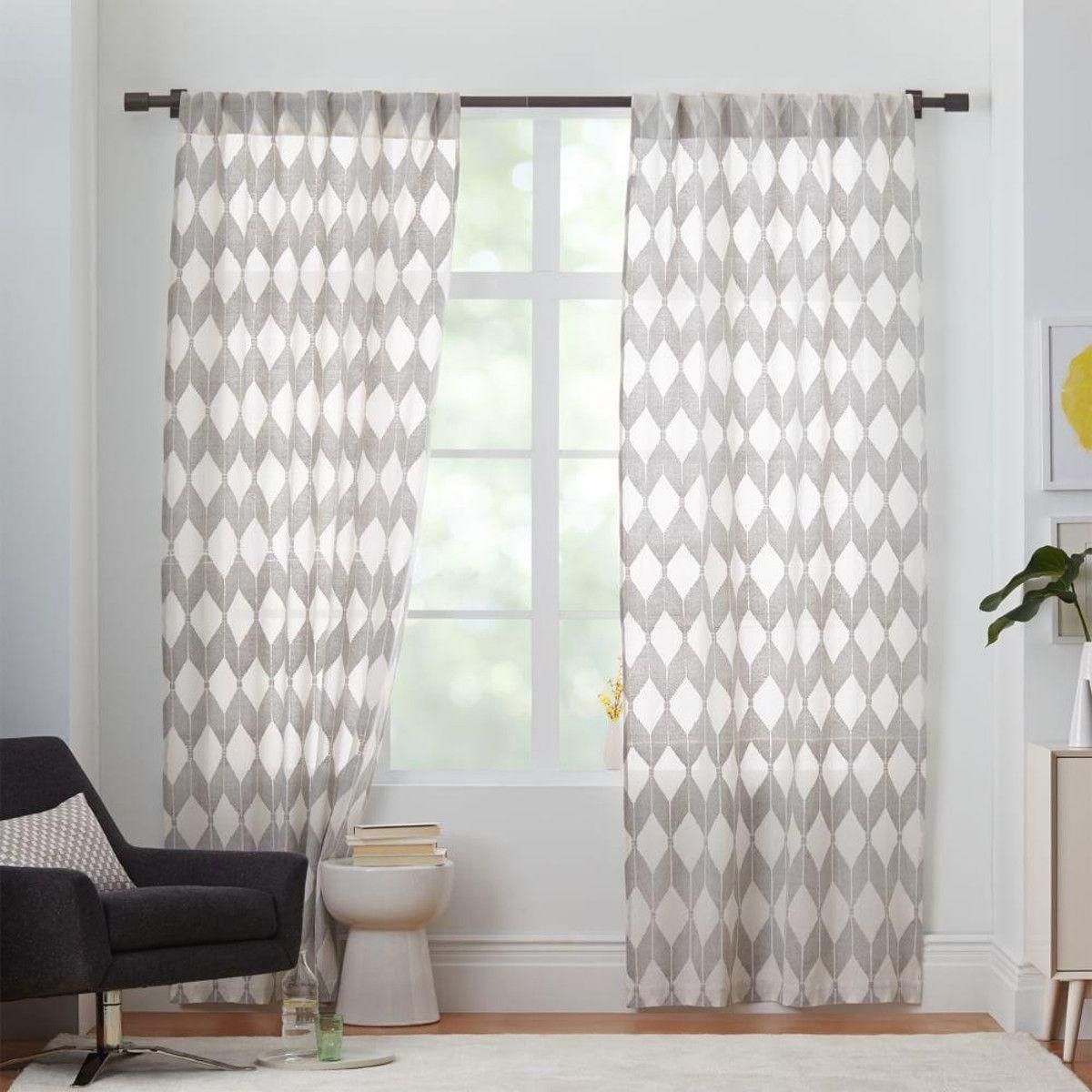 Sheer Diamond Curtain - Pewter | Dining room | Pinterest | Pewter ...
