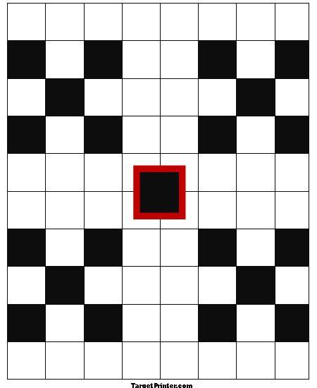 Printable Gun Range Black Square Graph Target Targets \ targets - 1 inch graph paper