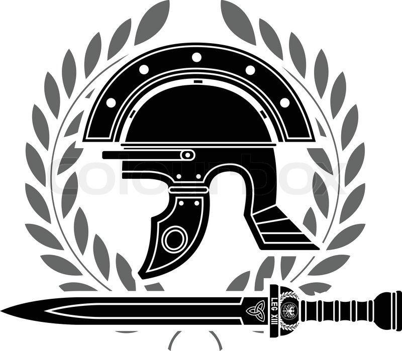 Stock Vector Of Roman Helmet Stencil Fifth Variant Vector