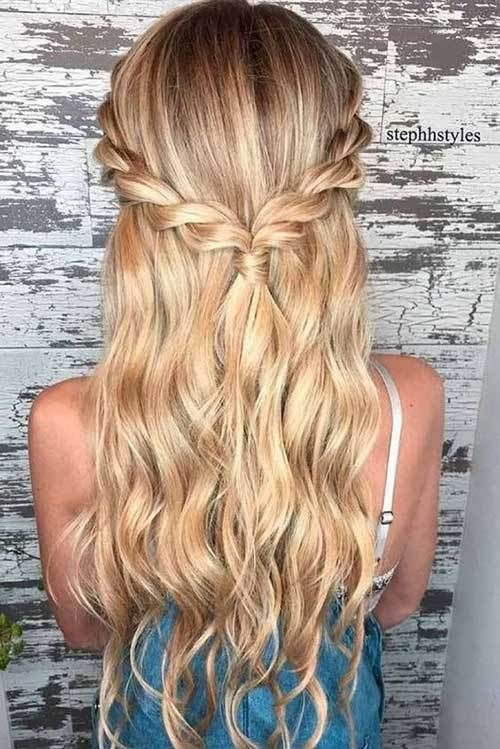 15 Ways Of Braided Long Hairstyles 11 Braided Half Updo Hair Braids Braided Longhair Long Hair Styles Long Hair Updo Easy Hairstyles For Long Hair