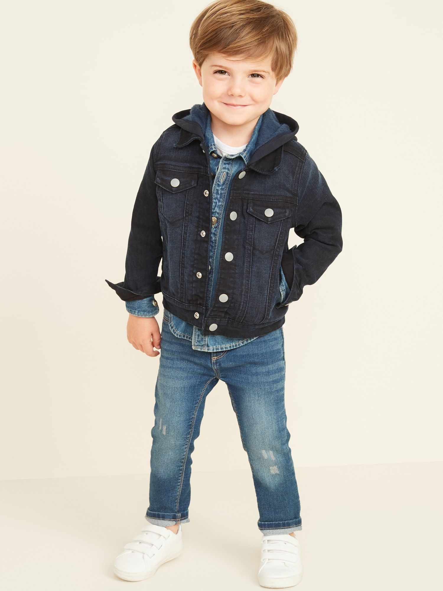 Hooded Jean Jacket For Toddler Boys Old Navy Kids Jeans Boys Jeans Kids Toddler Boy Fashion [ 2000 x 1500 Pixel ]