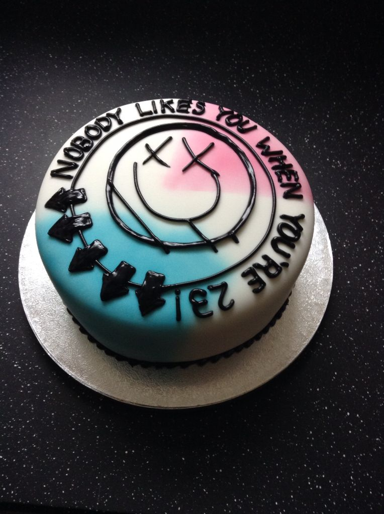 Nobody Likes You When You Re 23 Cake With Images Blink 182
