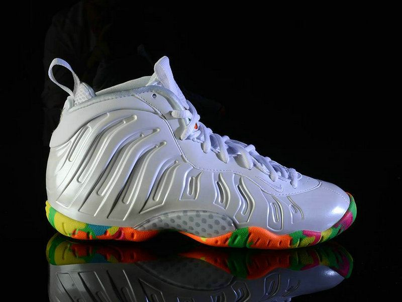 new arrivals fb092 f3580 Nike Lil Posite One Fruity Pebbles White Pink Foil Cascade Blue Poison Green  644791 100