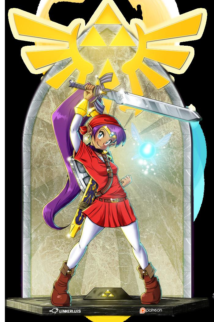 Half Genie Hero Of Time Game Art Video Game Art Anime Art
