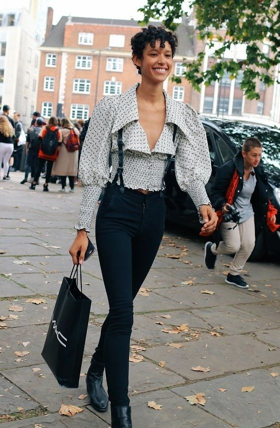 Dilone spotted on the street at London Fashion Week. Photographed by Phil Oh.