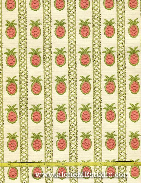 Vintage Wallpaper Pineapples By the Yard by alcheMEstudio ...