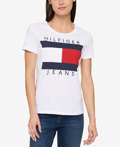 tommy hilfiger cotton logo t shirt created for macy 39 s. Black Bedroom Furniture Sets. Home Design Ideas