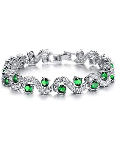 4.25ctw Genuine Peridot Oval & Solid .925 Sterling Silver Bracelet for Women and Girls DCvXlK3