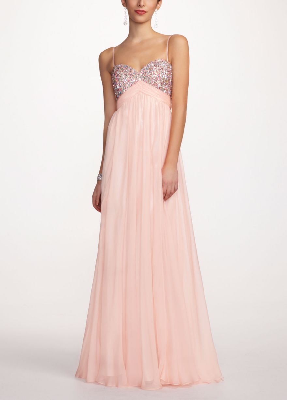 Long Chiffon Prom Dress with Spaghetti Straps - David\'s Bridal ...