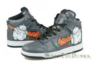 Official Nike Dunk High Top Fat Rabbit Carrot Neutral Grey Cartoon Shoes