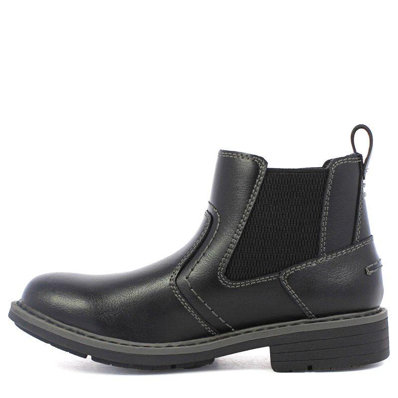 Florsheim Kids' Studio Jr Chelsea Boot Pre/Grade School Shoes (Black Leather)  - M