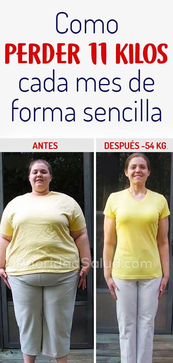 Dieta perder 8 kilos en un mes