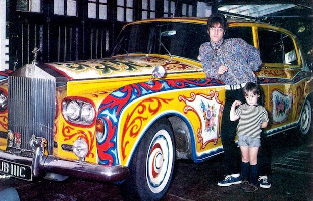 John and Julian with the Rolls Royce