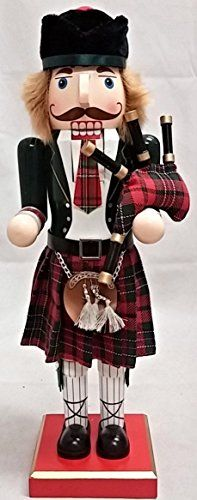 Scottish Bagpiper Wearing a Kilt Wooden Christmas Nutcracker 14 Inch Home and Holiday Nutcrackers http://www.amazon.com/dp/B015P299PE/ref=cm_sw_r_pi_dp_BE0cwb0J9KV9X