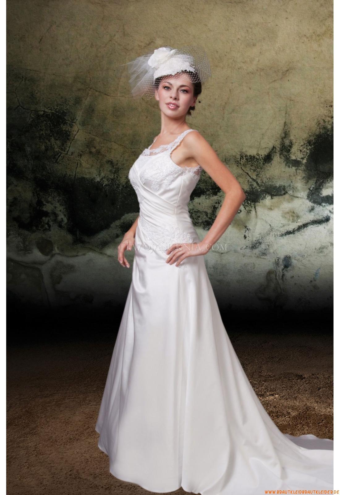 Square-neck Kolumne Designer Elegante Brautkleider ...