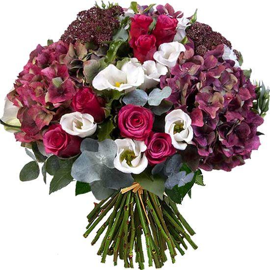des hortensias spectaculaires dans un magnifique bouquet de fleurs. Black Bedroom Furniture Sets. Home Design Ideas