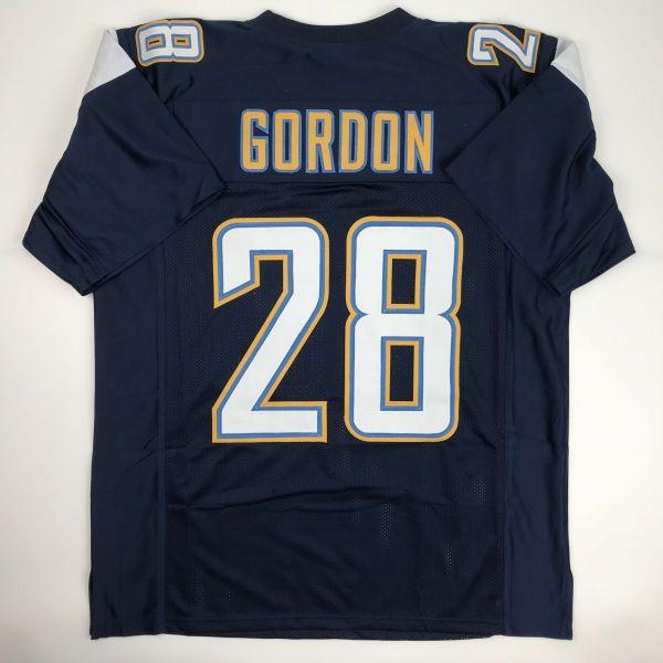 New Melvin Gordon Los Angeles Dark Blue Custom Stitched Football Jersey Men S Xl Custom Jerseys Jersey Football Jerseys