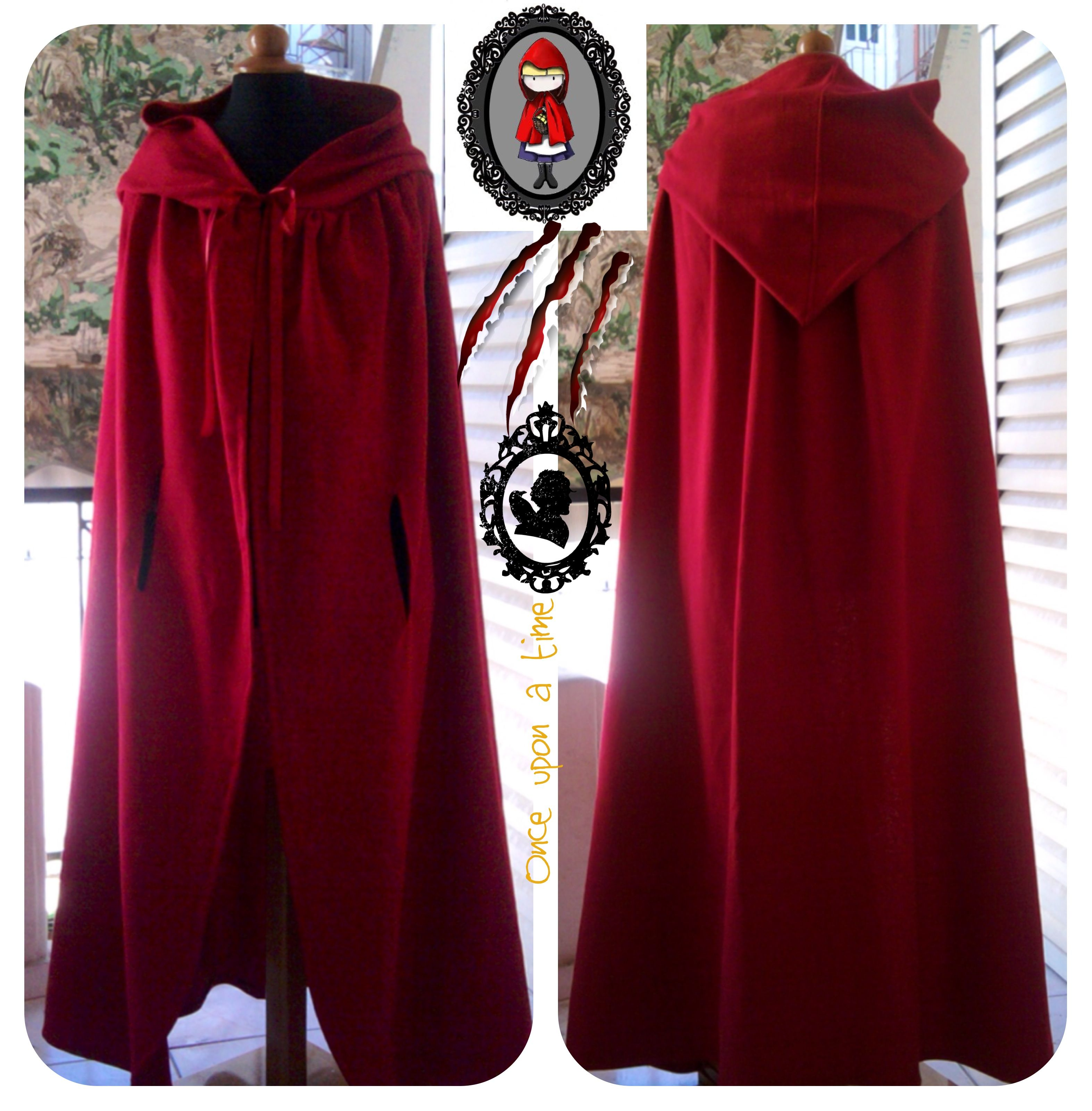 Cloak for Red riding hood costume