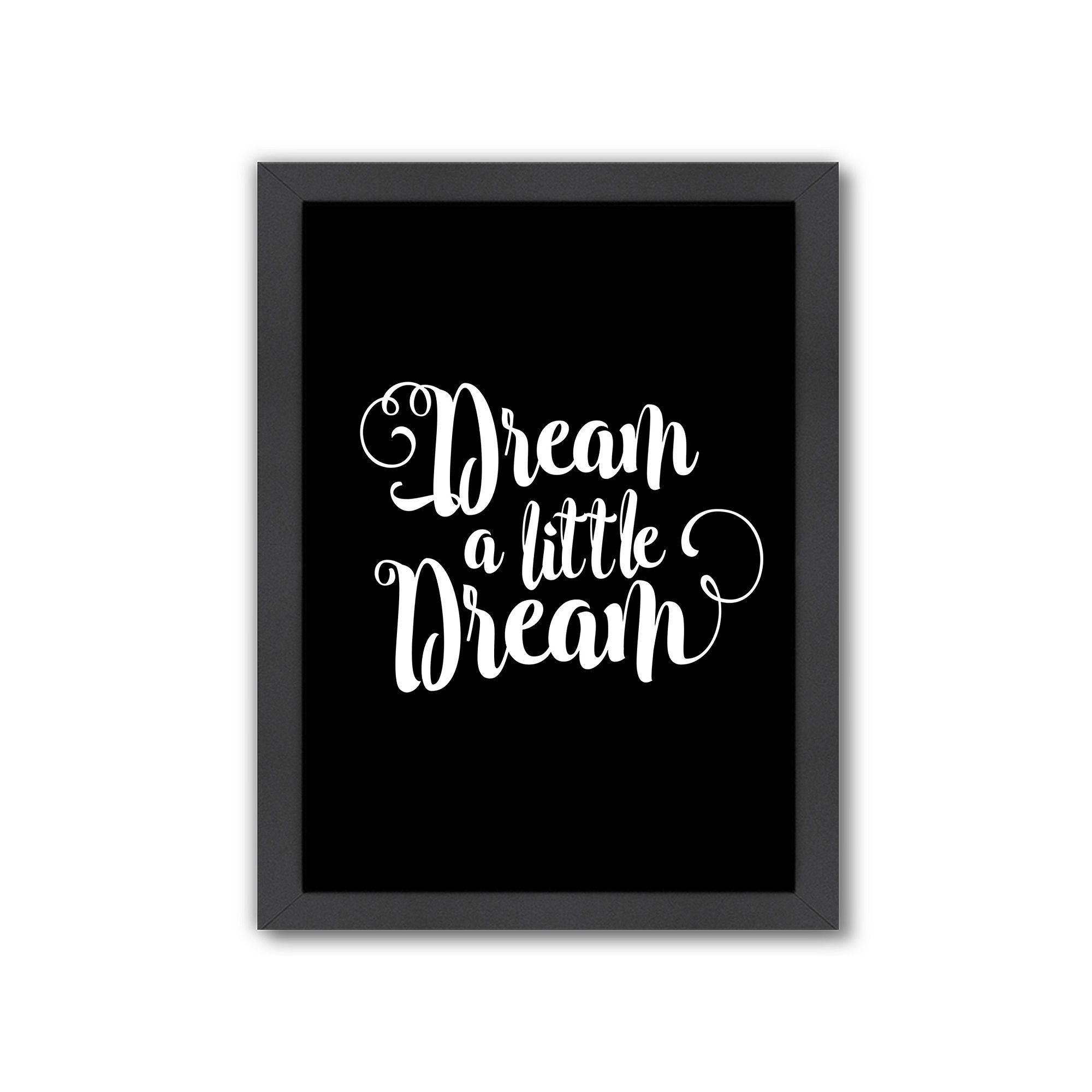 Americanflat dream a little dream framed wall art framed wall art