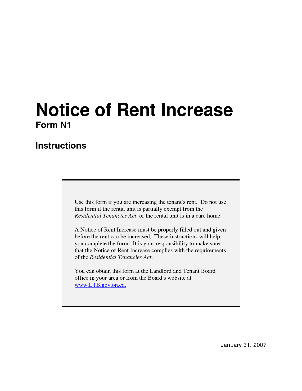 Elegant Rent Increase Notice