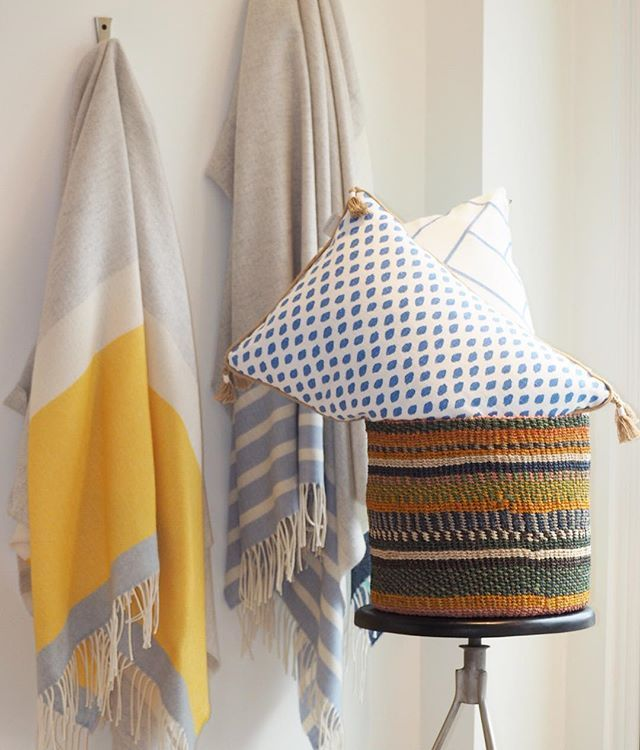 Colorful textiles from the inside, out.