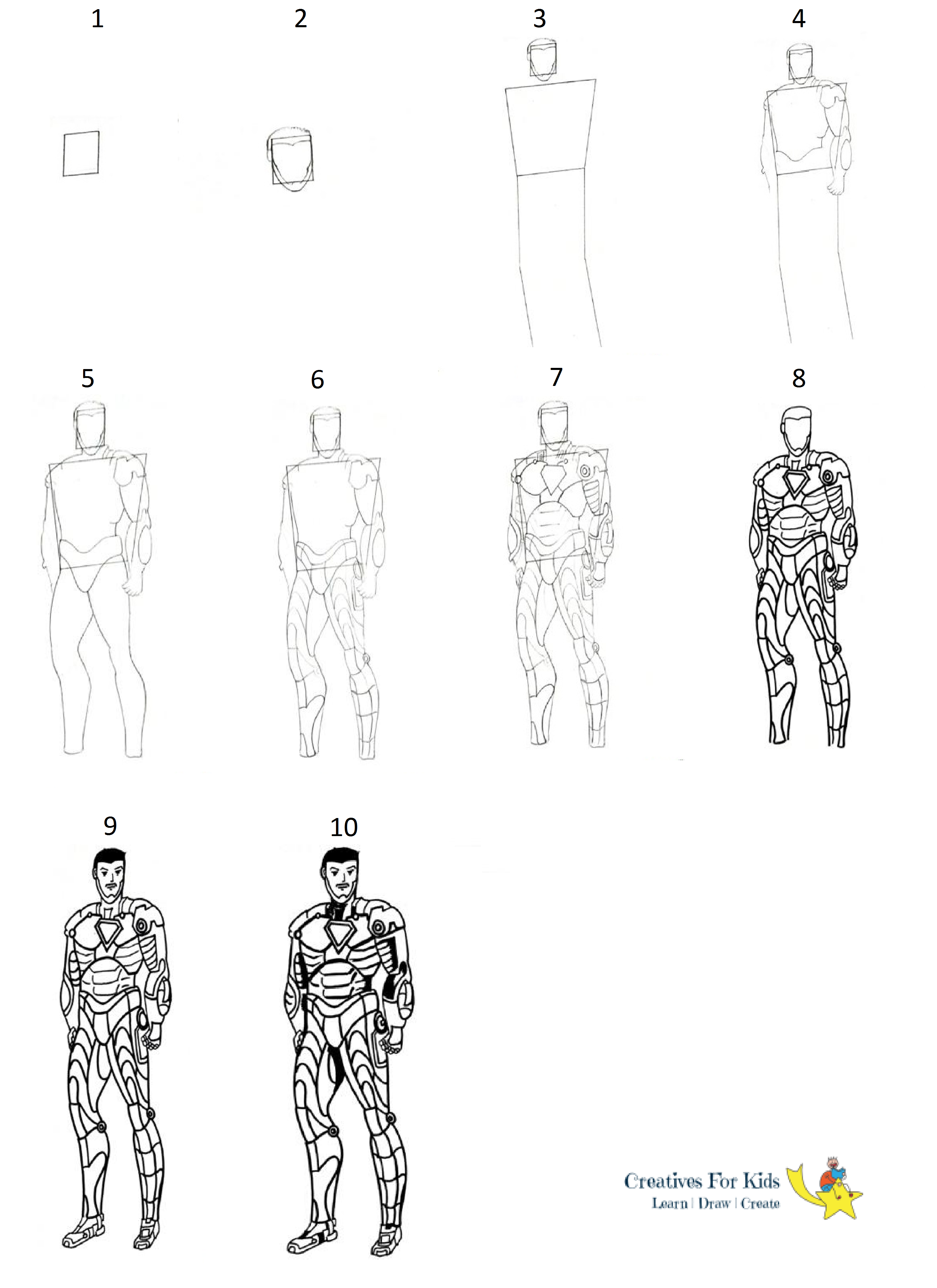 How To Draw An Ironman Step By Step Tutorial Drawings Art Instructions Step By Step Drawing