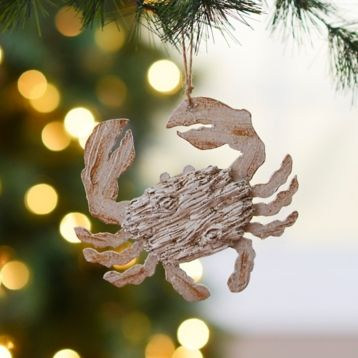 Distressed White Crab Ornament Ornament, Christmas tree and Tree