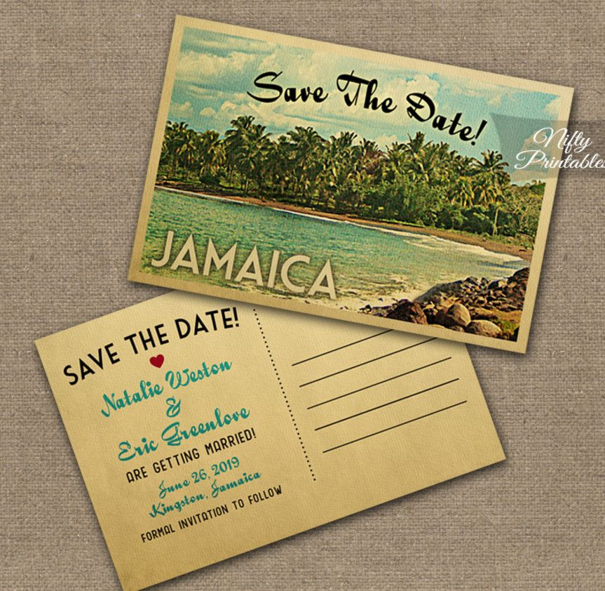 Jamaican Themed Party Invitation