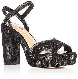 548fedb186d Imagine VINCE CAMUTO Women s Valora Satin   Lace Block Heel Platform Sandals   wedge