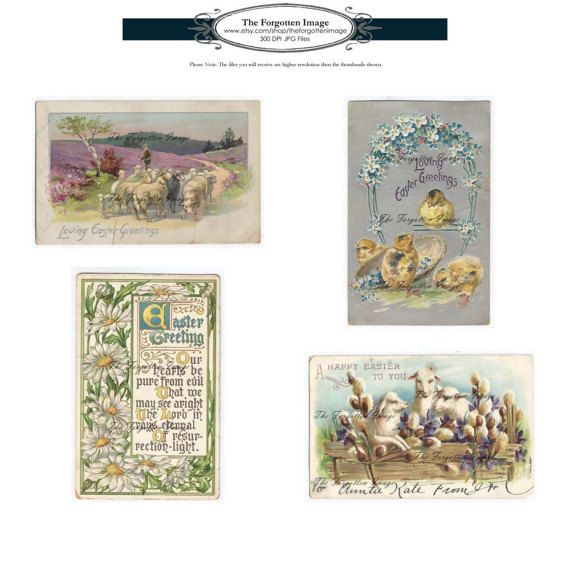 digital easter postcards front and back 11 easter antique postcards