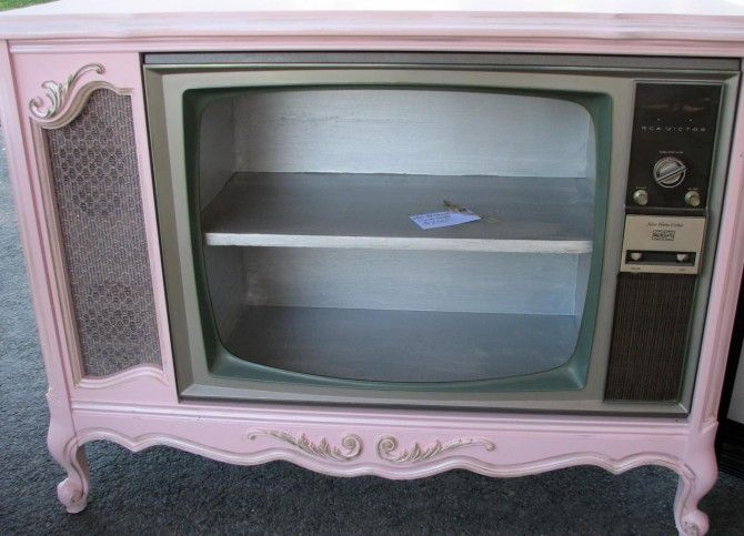 Old Console Tv Makeovers ~ S console tv makeover intriguing decor storage