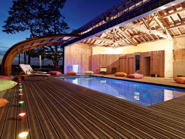 piscine intérieure - Recherche Google spa de nage Pinterest - location villa piscine couverte chauffee