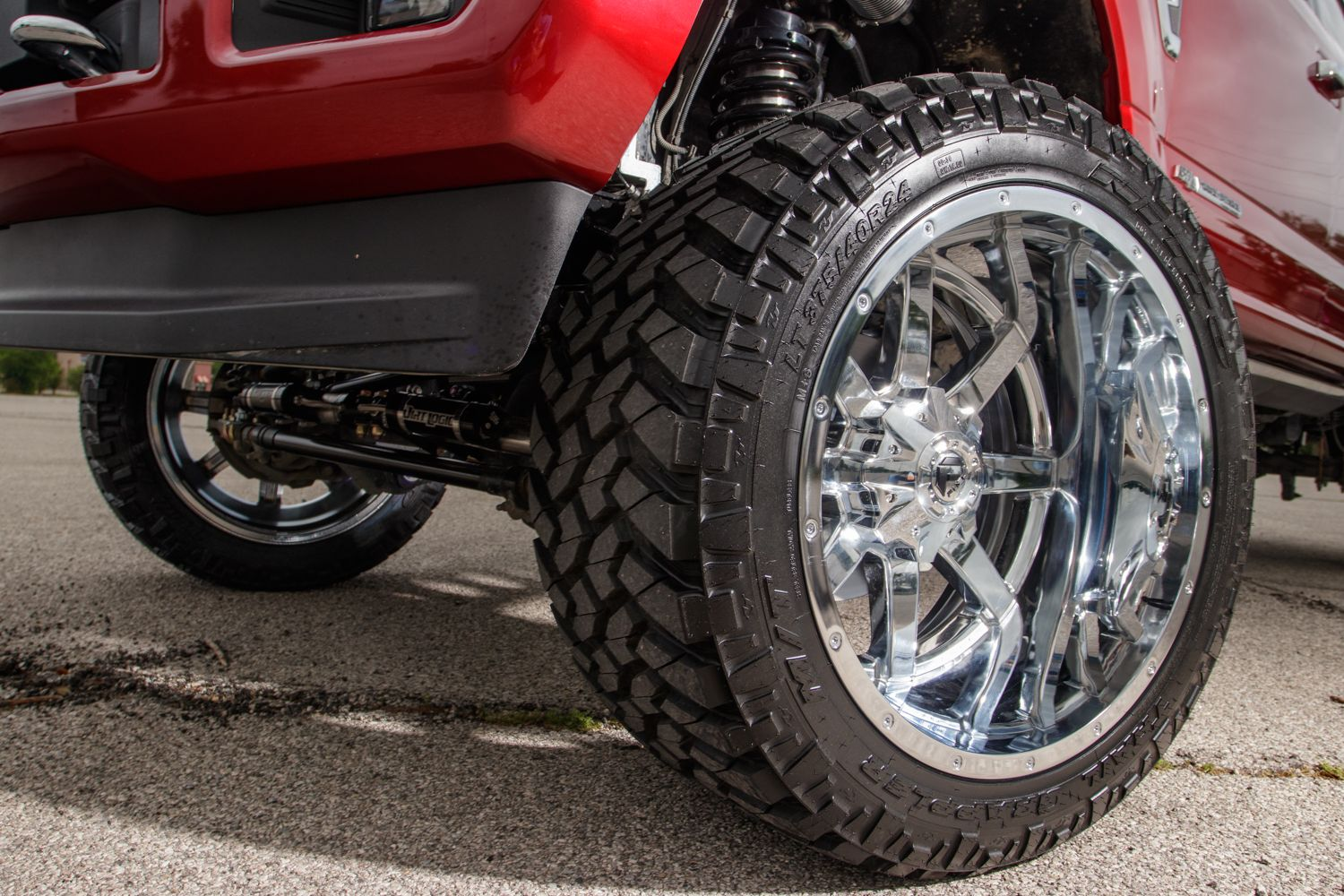 24 Inch Fuel Maverick Chrome Wheels With 70 Offset Lots Of Stance