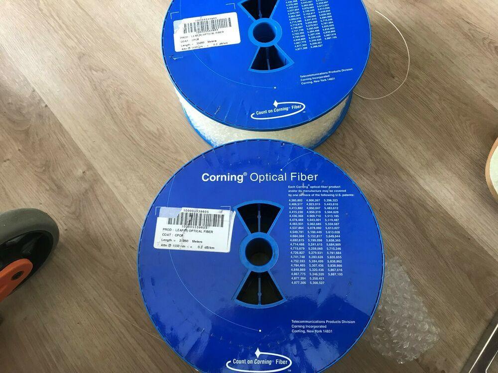Ebay Sponsored Corning Leaf R Optical Bare Fiber 25000m 25 Km Coating Is Cpc6 Corning Optical Fiber