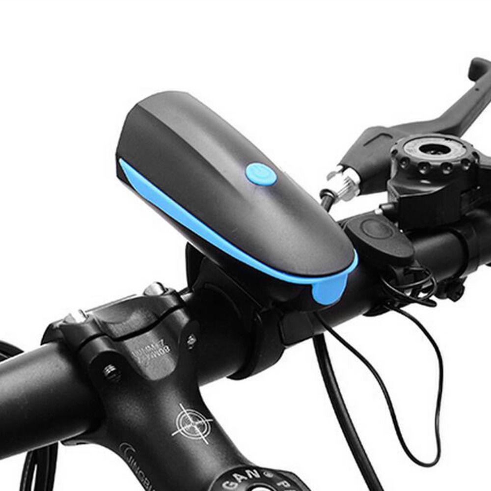 USB Charge Bycicle LED Light Electric Horn Headlight Handlebar Flashlight  MT