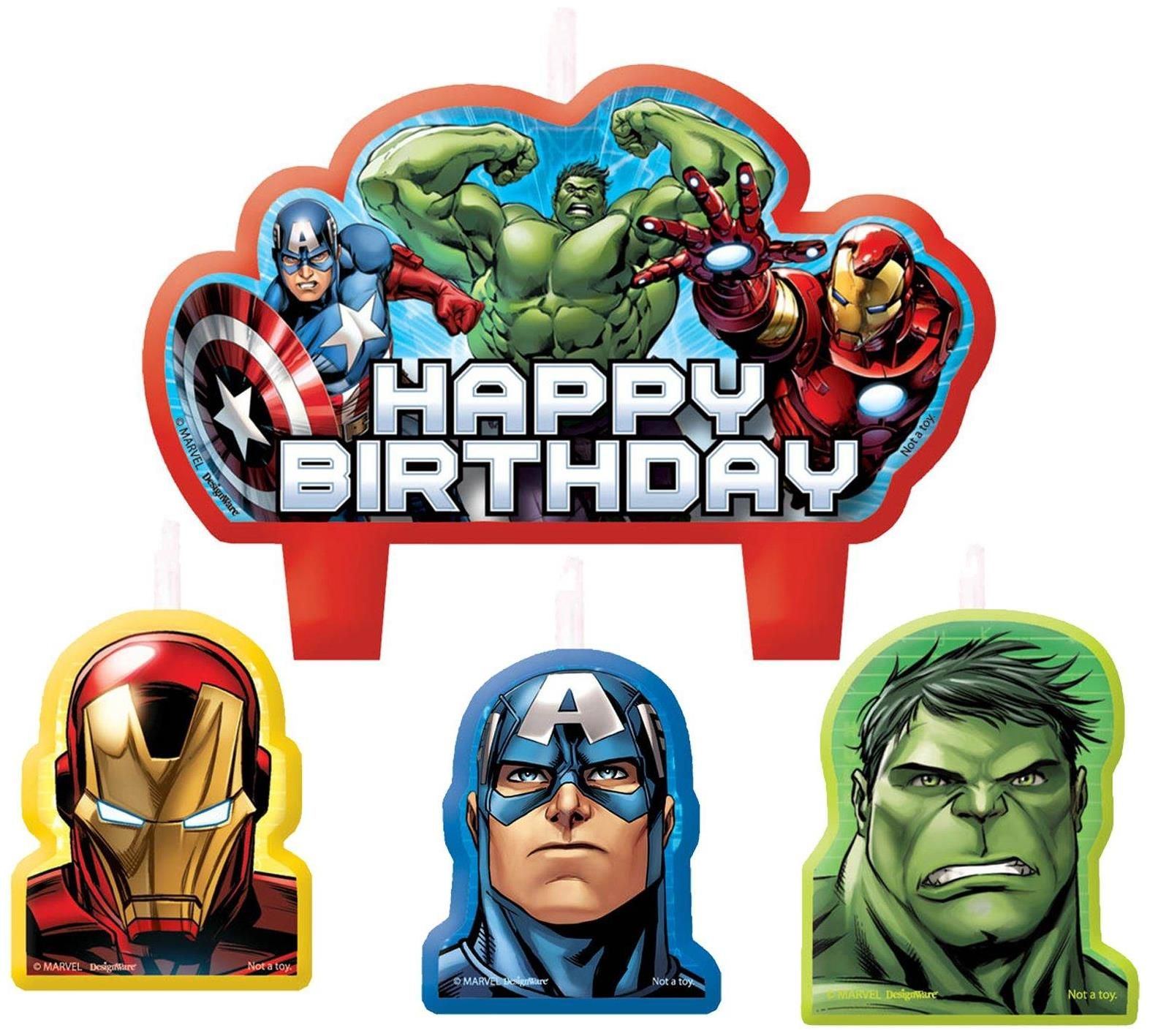 PartyBellcom Avengers Assemble Birthday Candle Set Candle