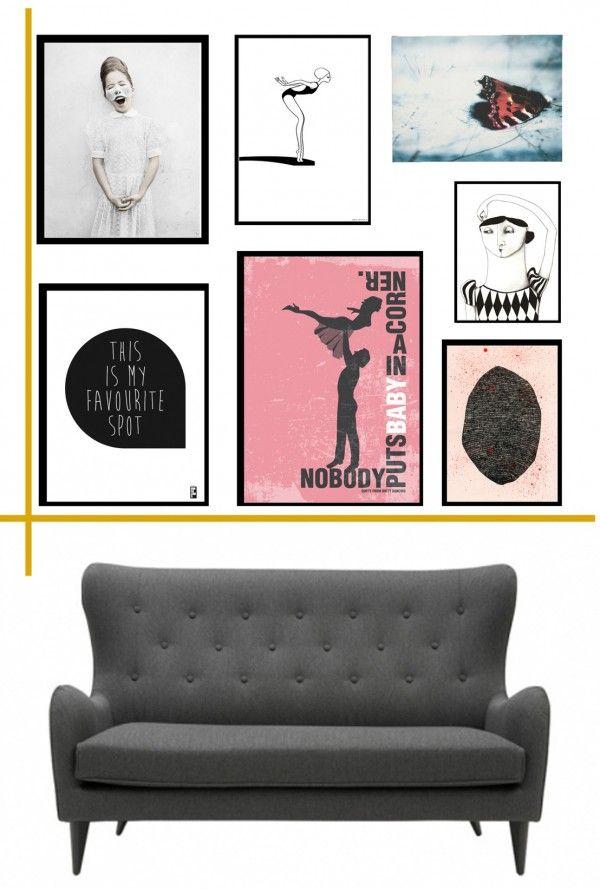 Billedevæggens gyldne snit - (How to) | How to hang up your art ...