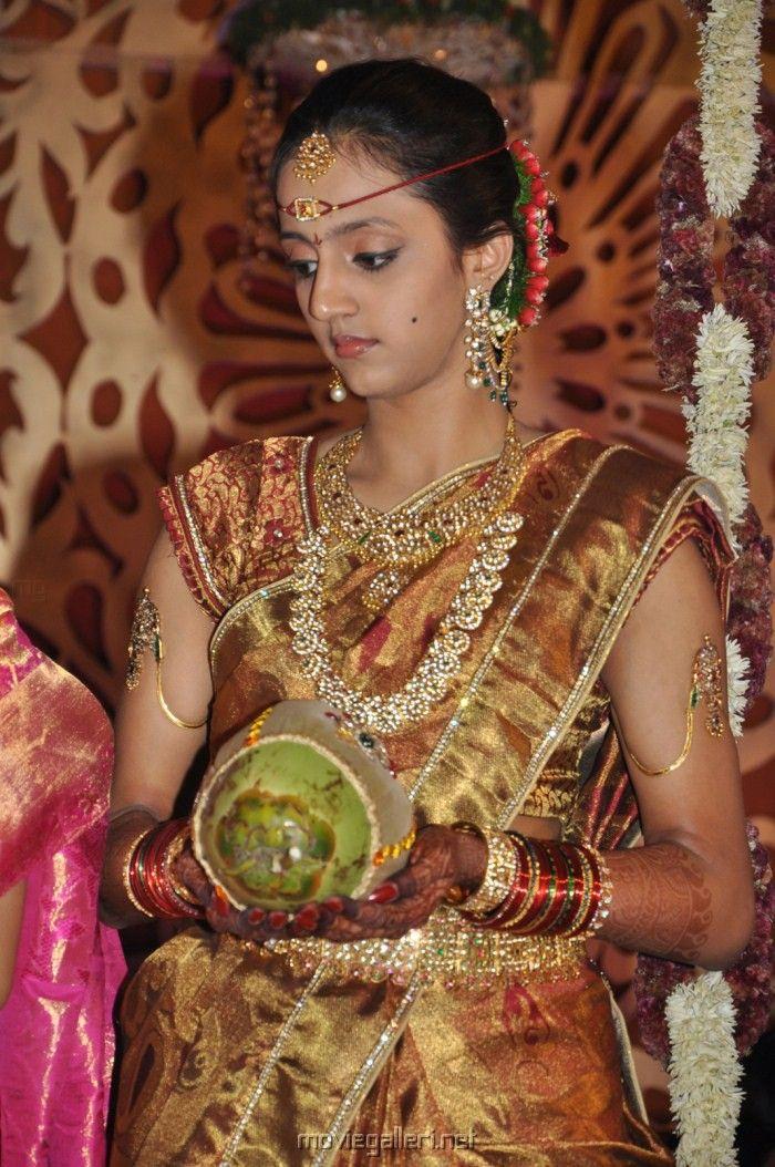 Picture 11388 Lakshmi Pranathi Marriage Saree Pics New Movie Posters Bridal Sarees South Indian Bridal Jewellery Design Wedding Saree Indian