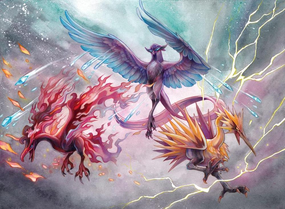 Galarian Legendary Birds By Exileden On Deviantart Cool Pokemon Wallpapers Zapdos Pokemon Pokemon Realistic