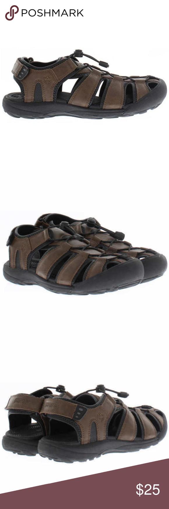 0d1d8c3d760 Men s Khombu Travis Active Sandal Brown Khombu Adjustable heel strap for  optimal fit durable traction outsole
