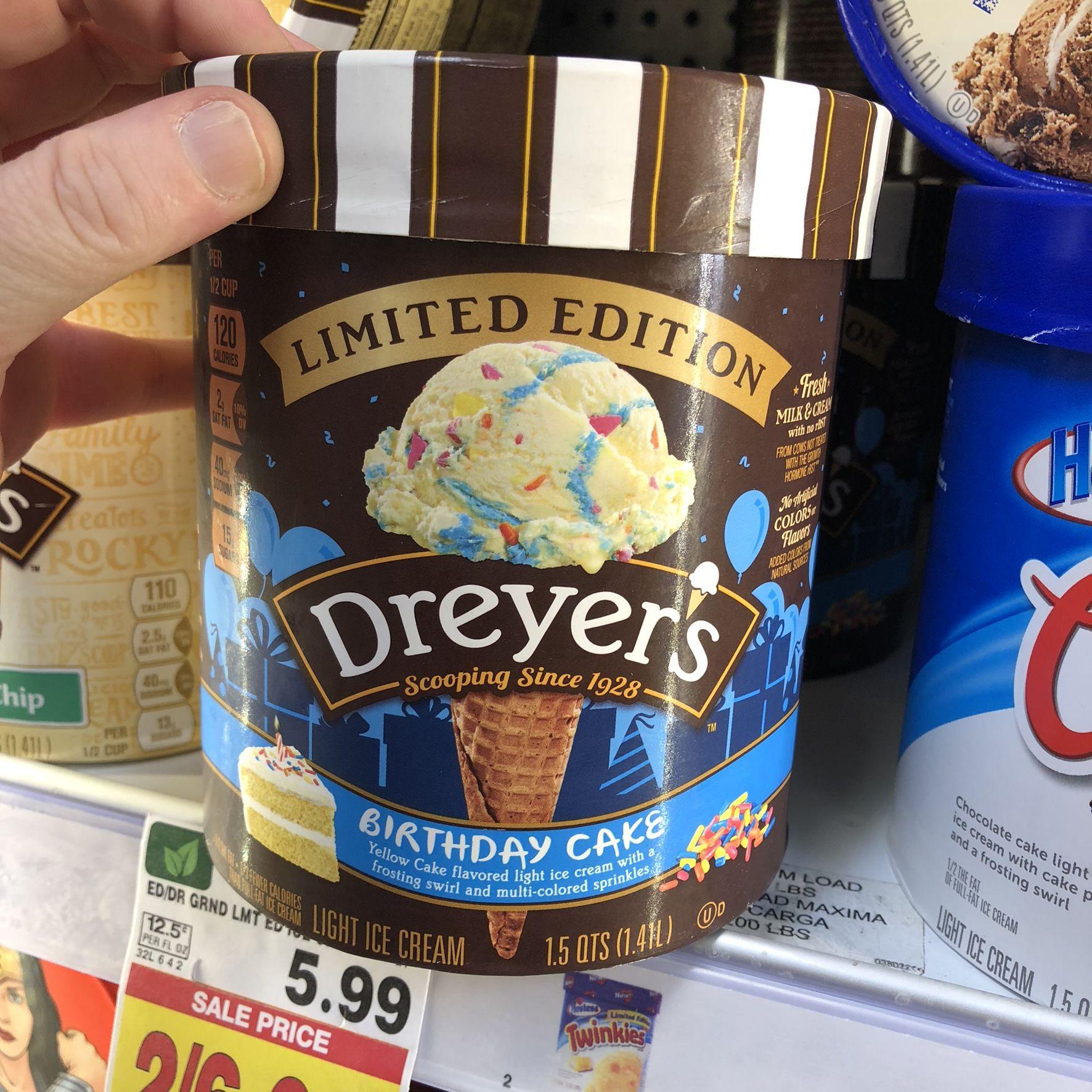 Found dreyers limited edition birthday cake ice cream