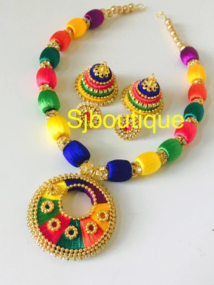 Pin By Sjboutique On Sjboutique Silk Thread Jewelry Silk Thread Earrings Designs Silk Thread Jewelry Silk Thread Earrings