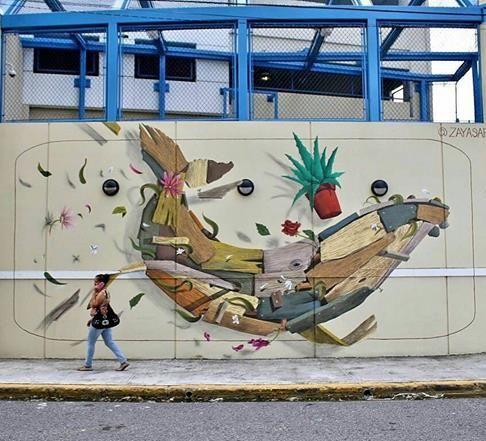 David Zayas In San Juan Puerto Rico 2017 Street Art Graffiti Street Art Puerto Rico