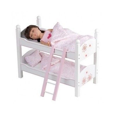 Doll Bunk Beds Stackable Toy Furniture Bedding Ladder Fits